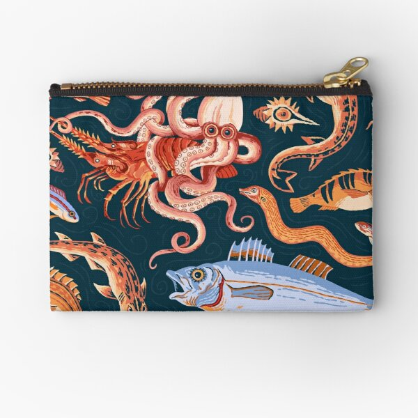 Roman Marine mosaic  Zipper Pouch