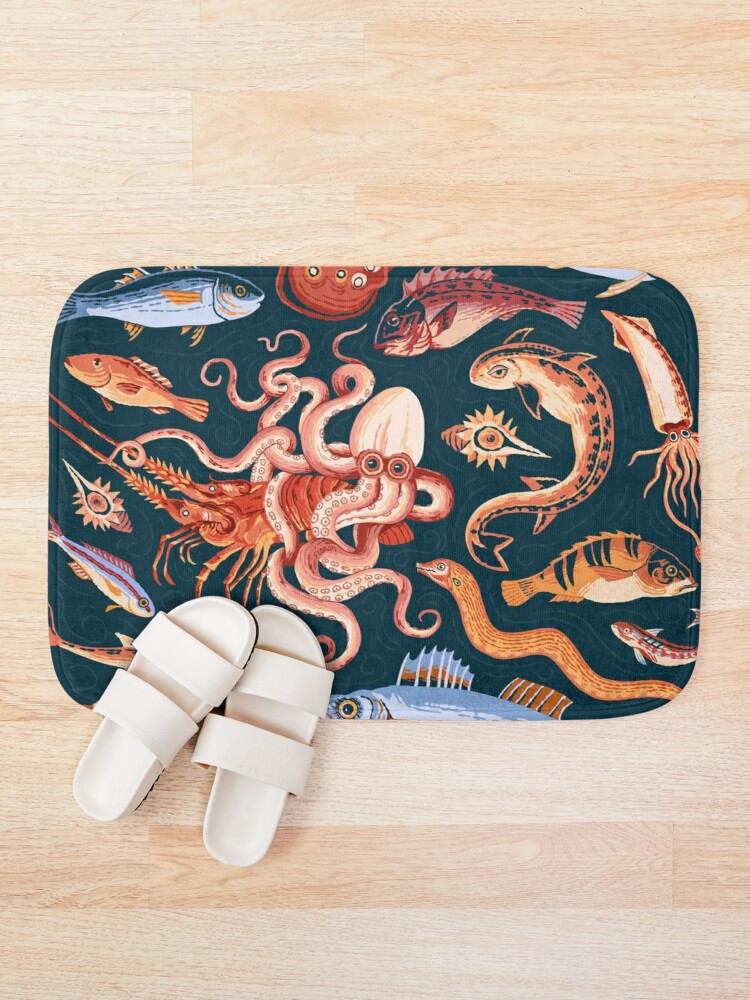 Alternate view of Pompeii Marine Mosaic  Bath Mat