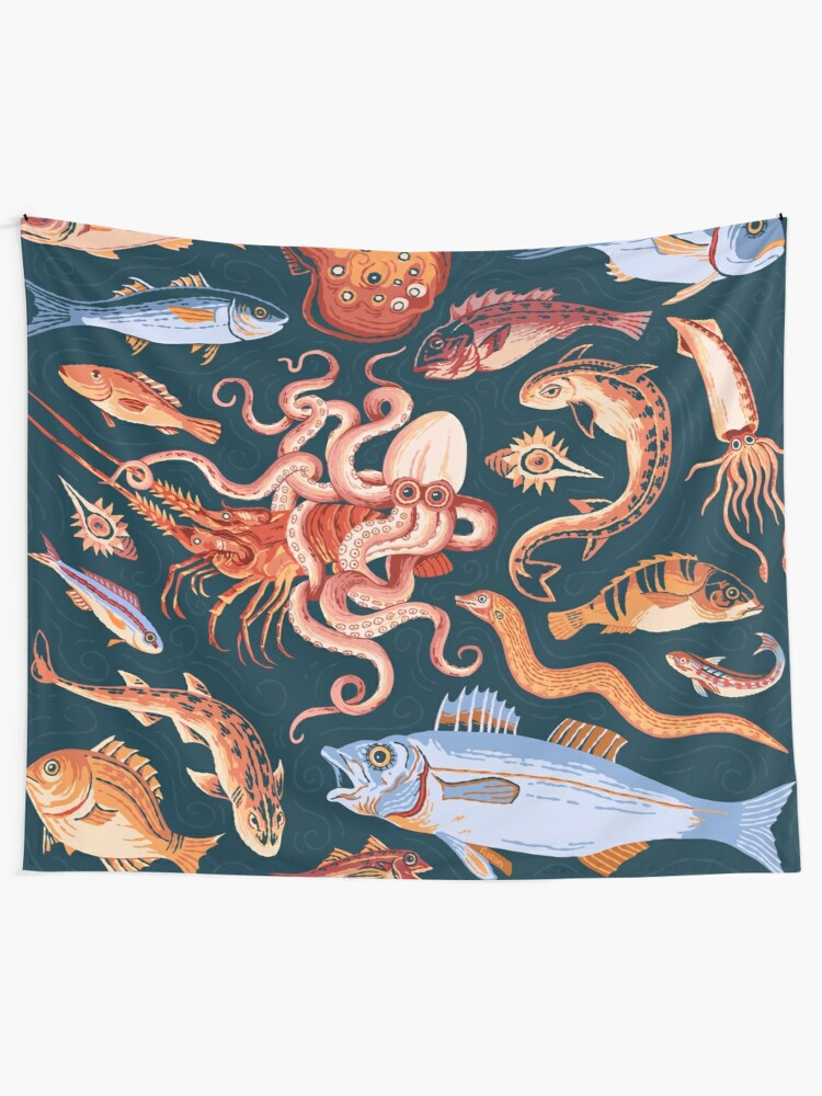 Alternate view of Pompeii Marine Mosaic  Tapestry
