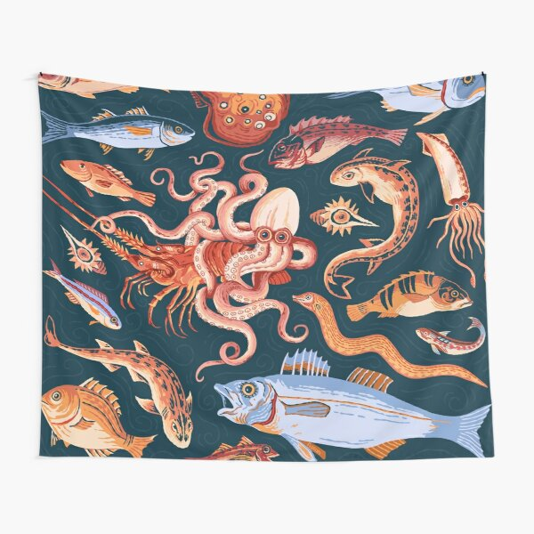 Pompeii Marine Mosaic  Tapestry