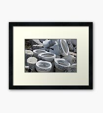 Life's Arseholes Framed Print