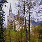 Germany, Castle Ludwig II, Füssen, 1869 by Daidalos