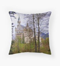 Germany, Castle Ludwig II, Füssen, 1869 Throw Pillow
