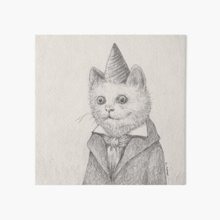 Birthday Kitty Art Board Print