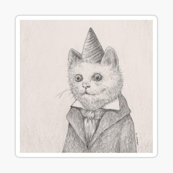 Birthday Kitty Sticker