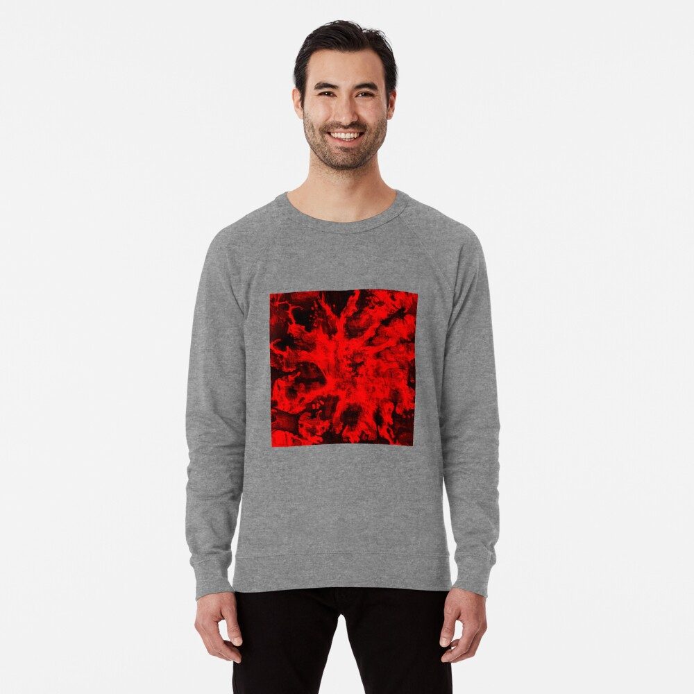 Red Abstraction Lightweight Sweatshirt