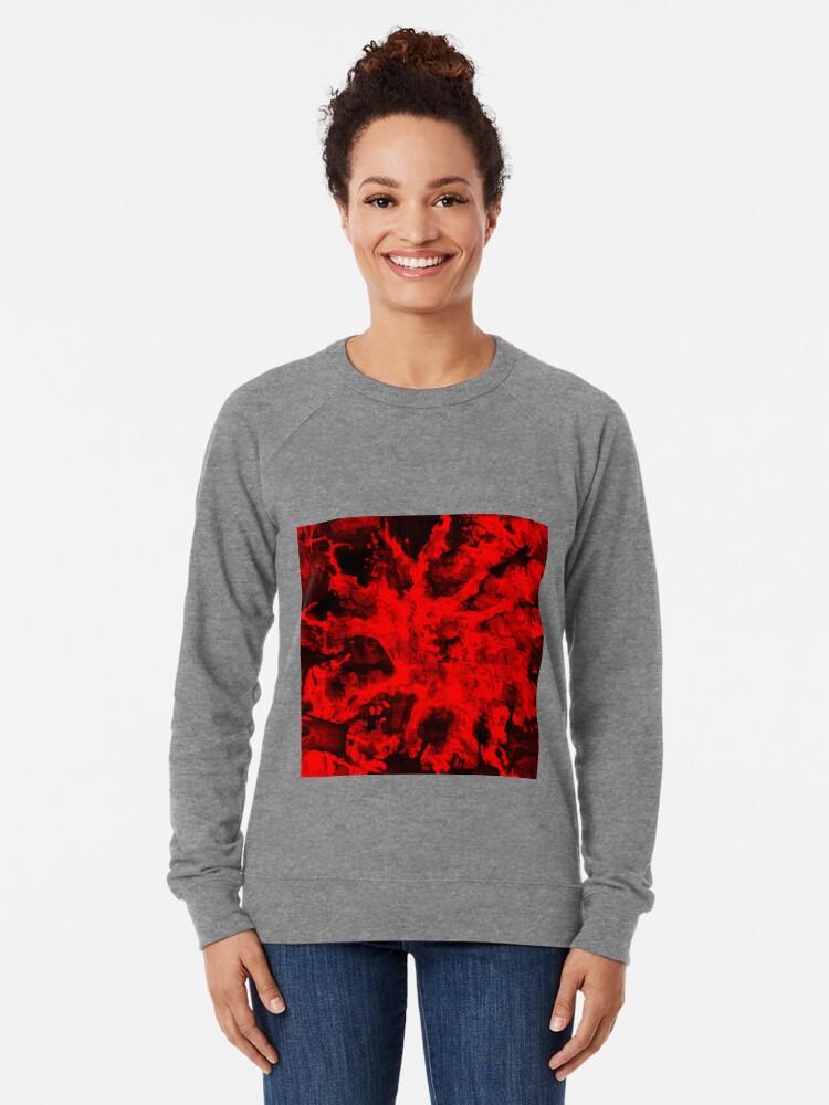 Alternate view of Red Abstraction Lightweight Sweatshirt