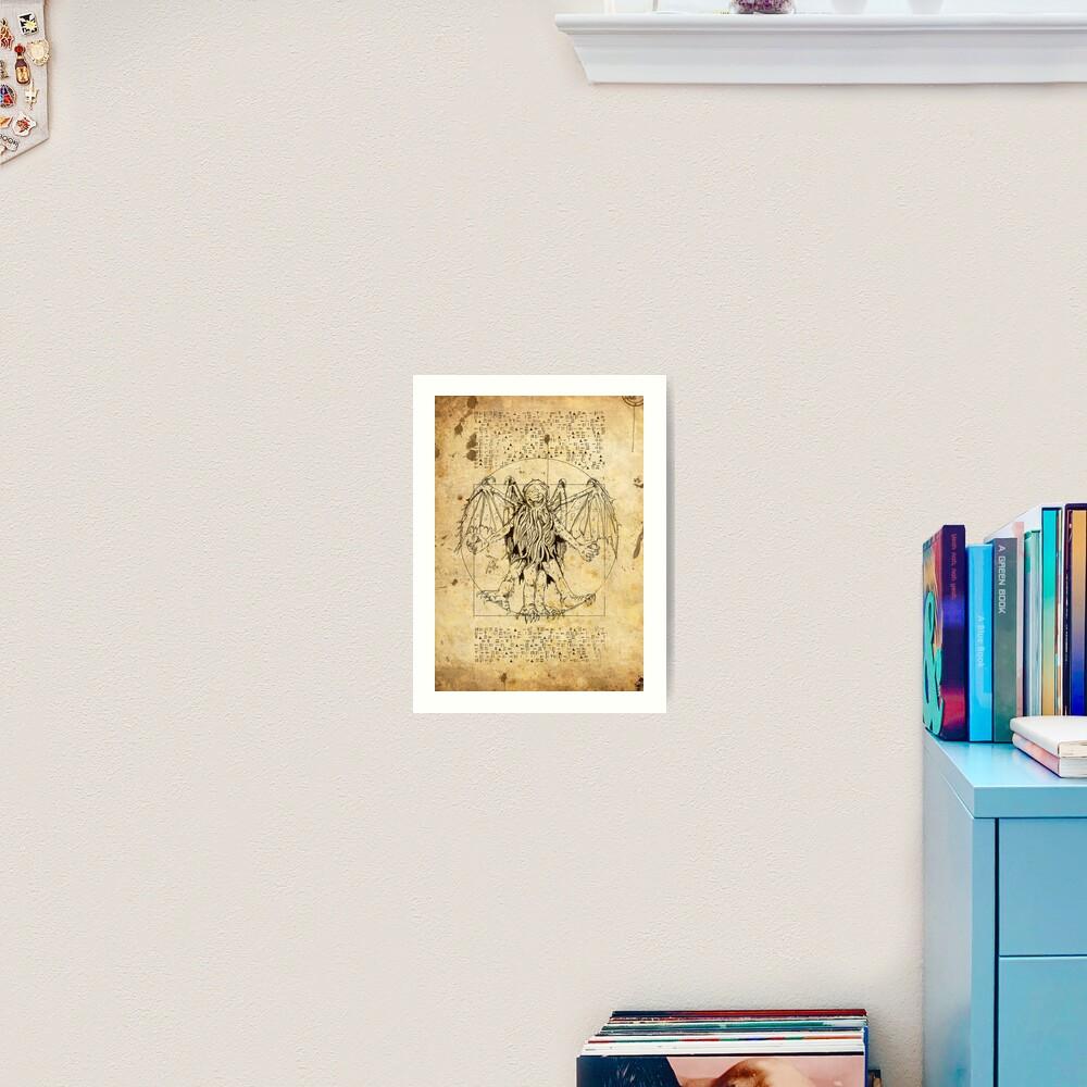 Cthulhu Vitruvian Art Print