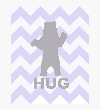Bear Hug - Purple Photographic Print