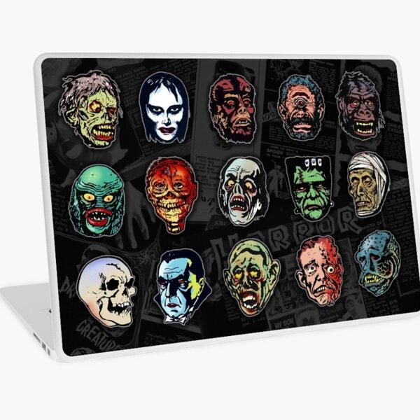 Horror Movie Monster Masks (color) Laptop Skin