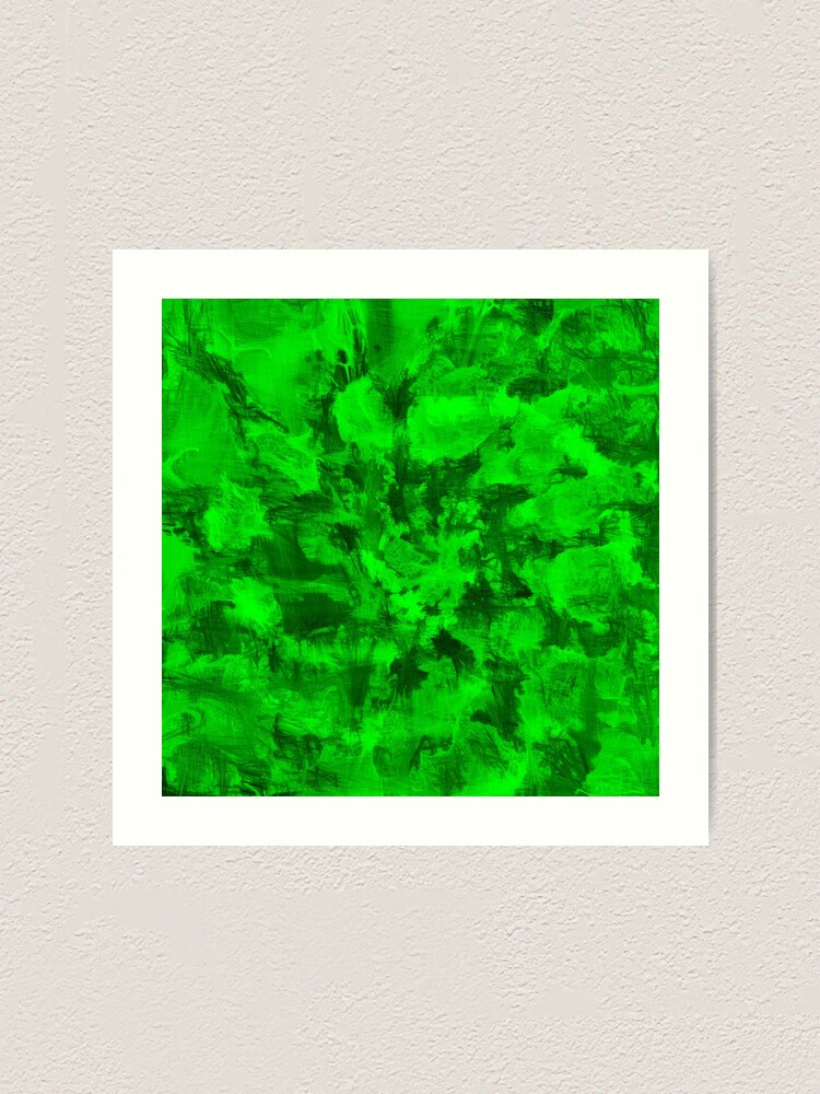 Alternate view of Green Abstraction Art Print