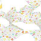 Geometric landscape multi colour rainbow 03 drawing h by BellaBark