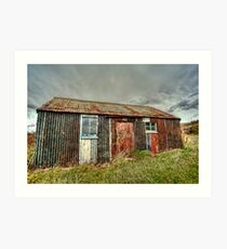 Tin Shack on Isle of Raasay Art Print