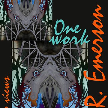 One work, Two Views - Commemorative Poster by L. R. Emerson II from the Upside-Down Drawing Art Movement; Upsidedownism, Topsy Turvy Art, Ambigram Art, or Masg Art  by emersonl