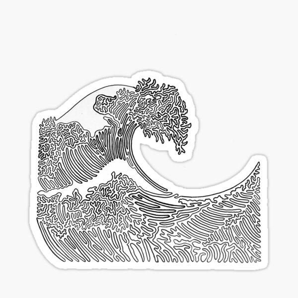 Große Welle von Tfoust Sticker