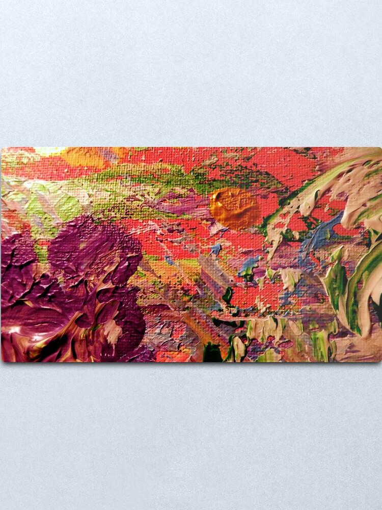 Alternate view of Purple Iris from Kelley's Jardin Metal Print