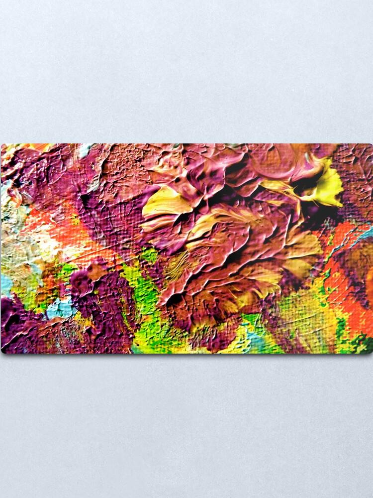 Alternate view of Windswept Flowers from Kelley's Jardin Metal Print