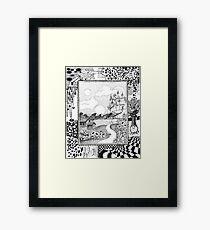 Fantasy Land Surrealism Framed Print