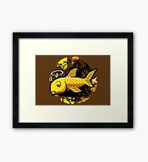 OG Fish - Abstract 4 Color Framed Print