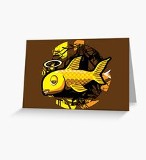 OG Fish - Abstract 4 Color Greeting Card