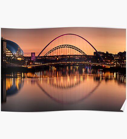 The Tyne Bridges Poster