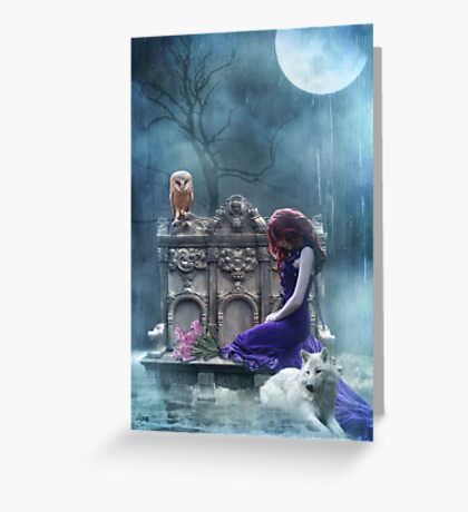 When The Moon Cries  Greeting Card