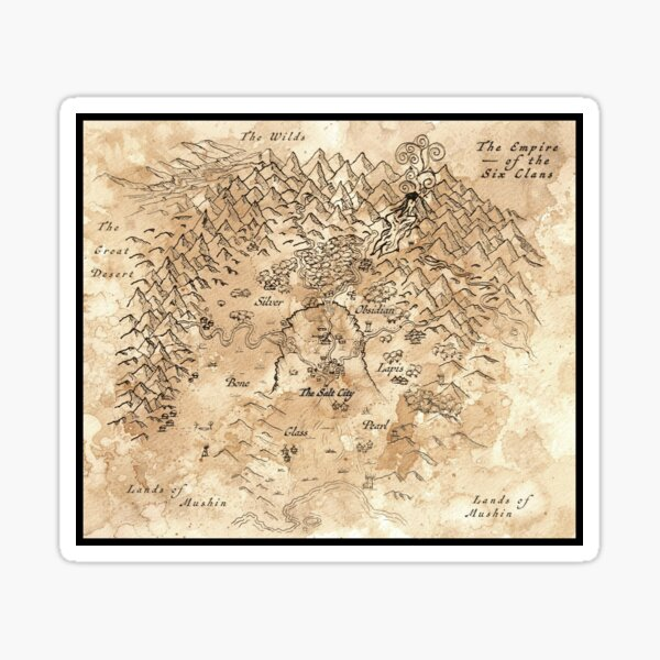 Map from Legends of the Clanblades Sticker