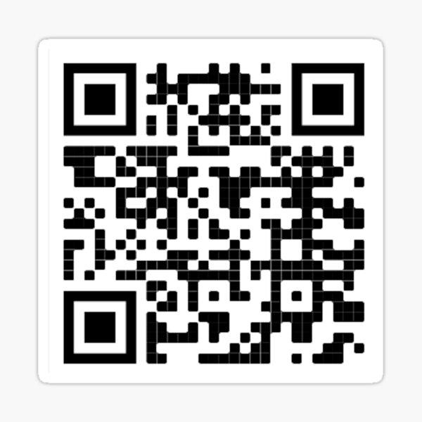 timothée chalamet statistiques qr code Sticker