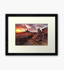 Sunset on Great Staple Tor Framed Print