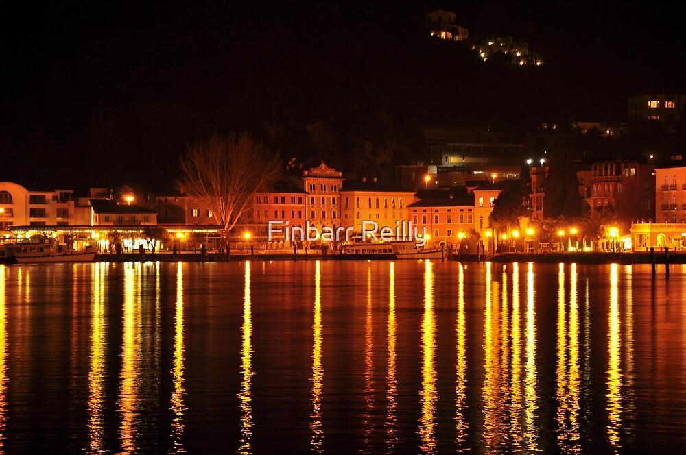 Riva del Garda at Night  by Finbarr Reilly