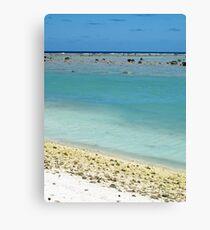 beach Rarotonga Canvas Print