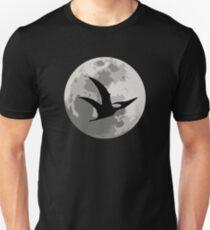 Dinosaur Moon Silhouette - Pterodactyl T-Shirt