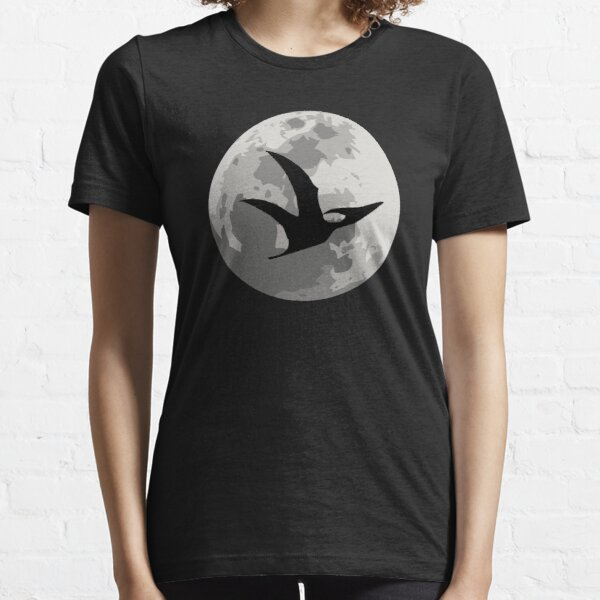 Dinosaur Moon Silhouette - Pterodactyl Essential T-Shirt