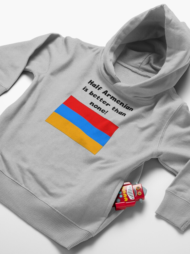 Alternate view of Half Armenian Is Better Than None Toddler Pullover Hoodie