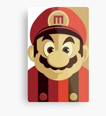 Mario Passport Snap Metal Print