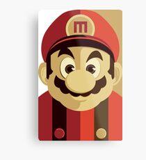 Mario Passport Snap Metal Print
