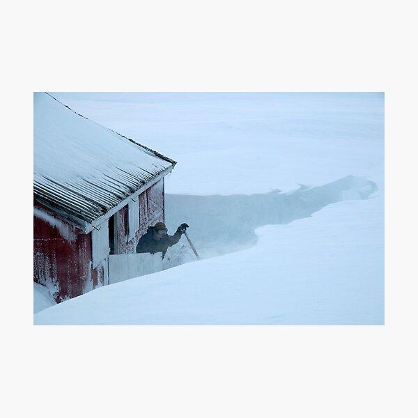 Windy at Hallingskeid - Kreklingbu student cabin Photographic Print