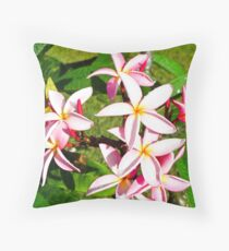 pink frangipane Throw Pillow