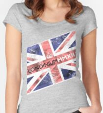 London 2012 - Londinium MMXII Union Jack Rose Women's Fitted Scoop T-Shirt