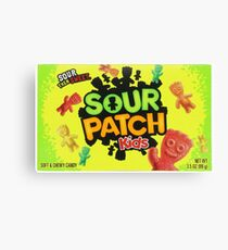 Sour Patch Kids candy package front Canvas Print