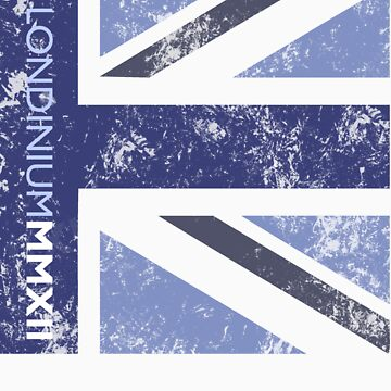 London 2012 - Londinium MMXII Union Jack Blue by Lordy99