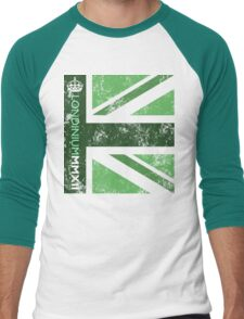 London 2012 - Londinium MMXII Union Jack Green Men's Baseball ¾ T-Shirt