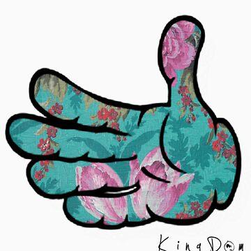 Floral Glove by KingDomDesigns