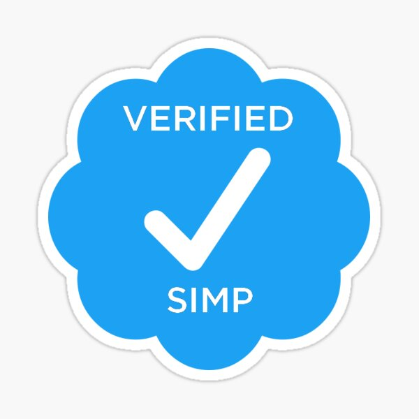 Verified Twitter Simp Sticker