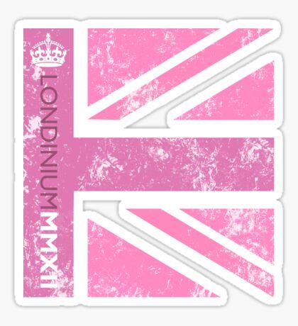 London 2012 - Londinium MMXII Union Jack Pink Sticker
