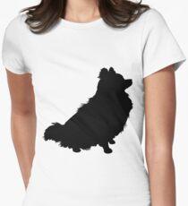 Camiseta entallada para mujer Silueta de Pomerania