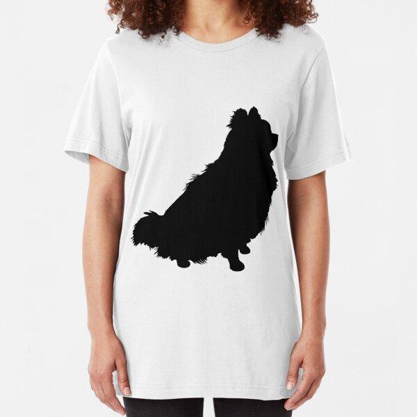 Pomeranian Silhouette Slim Fit T-Shirt