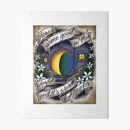 In a Hole in the Ground Art Board Print