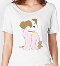Cute Puppy Pajamas Women's Relaxed Fit T-Shirt