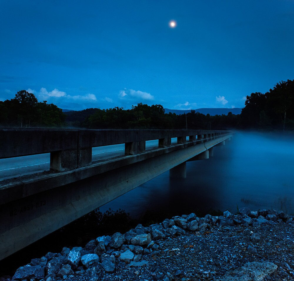 Bridge and Moon by Greg Booher